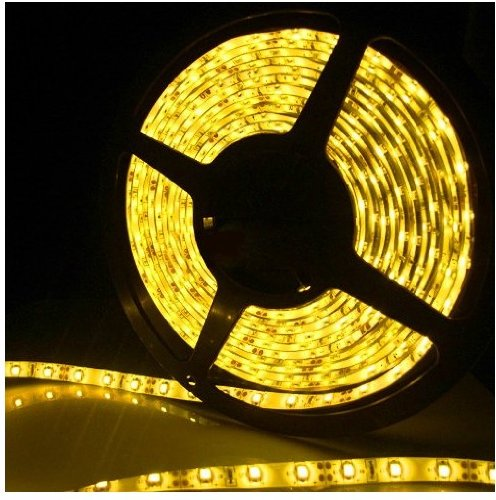 Epartsdom@ 16.4Ft 5M Smd 5050 Waterproof 300Leds Yellow Led Flash Strip Light ,Led Flexible Ribbon Lighting Strip,12V 60W 60Leds/M