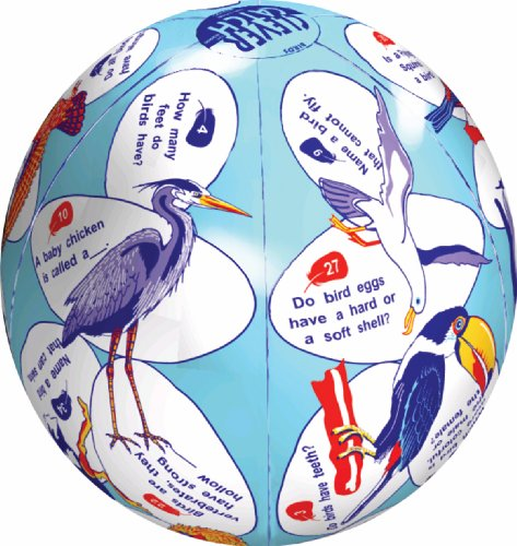 "American Educational Vinyl Clever Catch Elementary Science Birds Ball, 24"" Diameter"