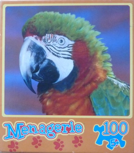 "Mega Puzzles 100 Pc Menagerie ""Bright Bird"" Parrot Head"