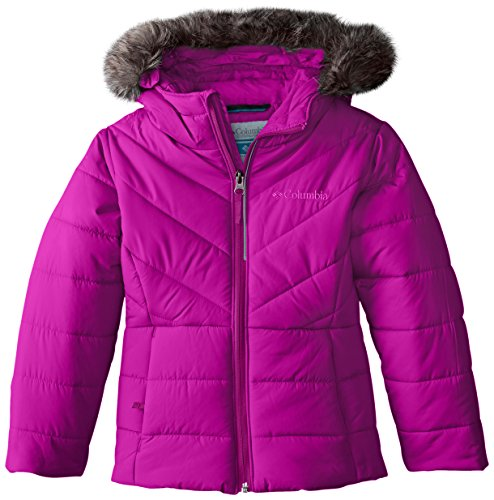 Columbia Little Girls' Katelyn Crest Jacket, Bright Plum, XX-Small