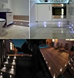10 Pack Waterproof IP44 Indoor Outdoor LED White Deck Lights / Bathroom / Decking / Plinth / Kitchen Lighting set Superb Quality 30MM LED Lights