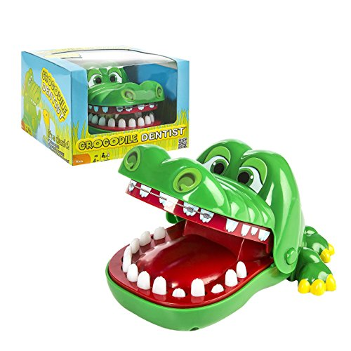 Crocodile Dentist - A Grouchy Friend with a Grievous Toothache - 1 to 4 Players - Ages 4 and Up (Neds Head compare prices)