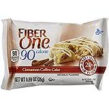 Fiber One 90 Calorie Bar, Cinnamon Coffee Cake, 0.89 Ounce Bar, 6 Count