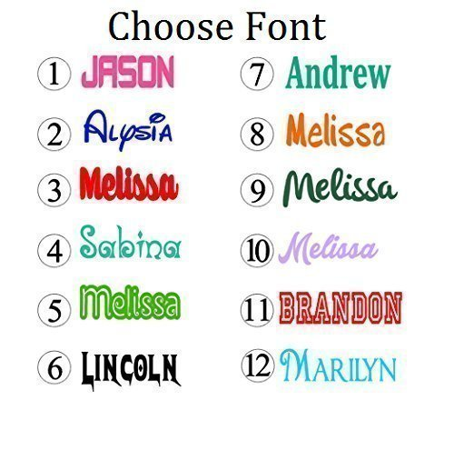 Personalized Name Decal Sticker - Gloss Vinyl for Yeti Cups, Windows, Laptops - Choose Font, Color, Size (Personalized Car Accessories compare prices)