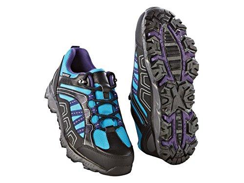 Damen Trekkingschuhe Trekking Schuhe Blau-Schwarz (38)