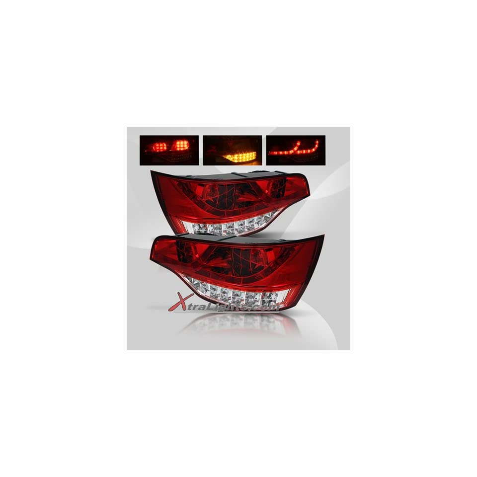07 09 Audi Q7 LED Tail Lights   Red Clear (pair)