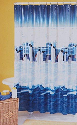 Antarctic Penguins Vinyl Shower Curtain