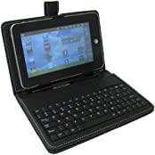 """SeCro Boom 7"""" Tablet Stand Case With USB Keyboard - Black Color Tablet Leather Case(1 Year Warranty)"""