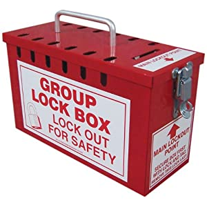 Accuform signs kcc617 steel portable group slot lock box for Lock box with slot for documents