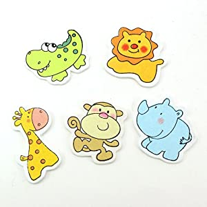 Small Wooden Painted Animal Cutout Shapes (pack of 10 pieces) Lion