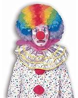 Forum Novelties Men's Jumbo Rainbow Clown Costume Wig