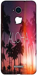 Snoogg Aloha Hard Back Case Cover Shield For Coolpad Note 3 (White, 16GB)