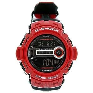 CASIO GD-200-4ER - Reloj de caballero de cuarzo, correa de otro material color rojo