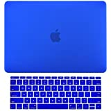 MacBook Pro 15 Case 2016, A1707 Rubberized Hard Case (NEWEST Release October 2016) With Touch Bar & Touch ID Shell Cover 15-inch + Free Keyguard + Touch Bar Protector + Dust Plugs Free ( Dark Blue )