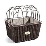Nantucket Bike Basket CompanySomerset Collection Adult Pet Basket with Quick Release (Brown)