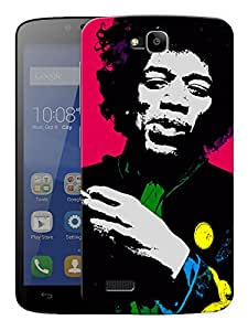 "Jimi Hendrix Colors In Life Printed Designer Mobile Back Cover For ""Huawei Honor Holly"" By Humor Gang (3D, Matte Finish, Premium Quality, Protective Snap On Slim Hard Phone Case, Multi Color)"