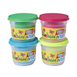 4 x 150g Soft Stuff Doh Tubs - Glitter and Pearl Colours