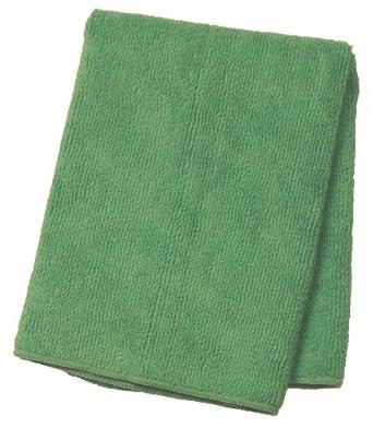 """E800016, Supremo paño de microfibra, 16 """"Longitud x 16"""" Ancho, Verde"""