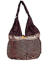 Cotton Canvas Boho Hobo Handcrafted Indian Ladies Sling Shoulder Bag - B0187EDCXC