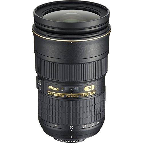 Details for Nikon 24-70mm f/2.8G AF-S ED Zoom-Nikkor Lens with Backpack + 3 Filter Kit for D3200, D3300, D5300, D5500, D7100, D7200, D750, D810 Cameras