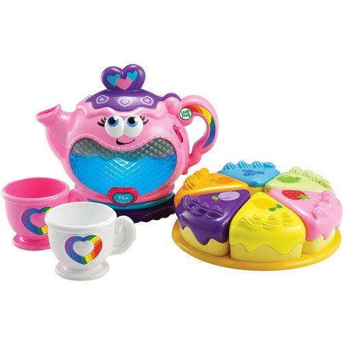 Kids Play Tea Party Play Set Toy With Musical Rainbow, Teapot Two Tea Cups