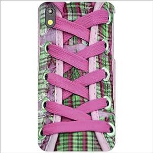 HTC Desire 816 Back Cover - Purple Shoe Laces Designer Cases