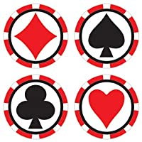 Poker Edible Image Cupcake Toppers