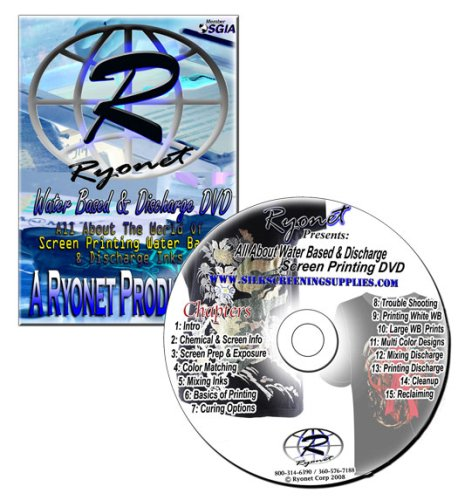 DVD on How to Screen Print Water Based Inks , Water Base Screen Printing, Discharge Ink, Discharge Silk Screening