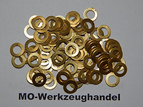 100-Stck-Unterlegscheiben-M4-Metall-vermessingt-Unterlegscheibe