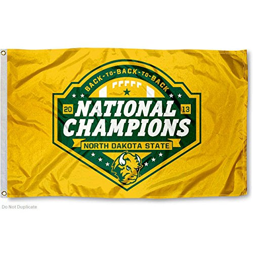 NDSU Bison Division I Champs Flag Large 3x5