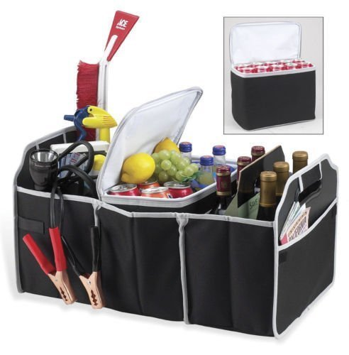 2 in 1 Trunk Organizer & Cooler Set – Collapsible Folding