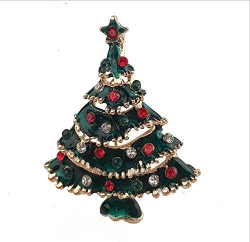 MaMaison007 gocce di olio raffinato Natale regalo dell'albero di Natale Spilla Pin spilla carina personalità