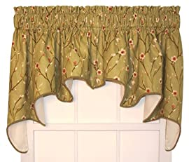 Cranwell Floral Lined Duchess Swags (pair) 100-Inch-by-30-Inch