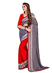 My online Shoppy Crepe Saree (My online Shoppy_17_Red)