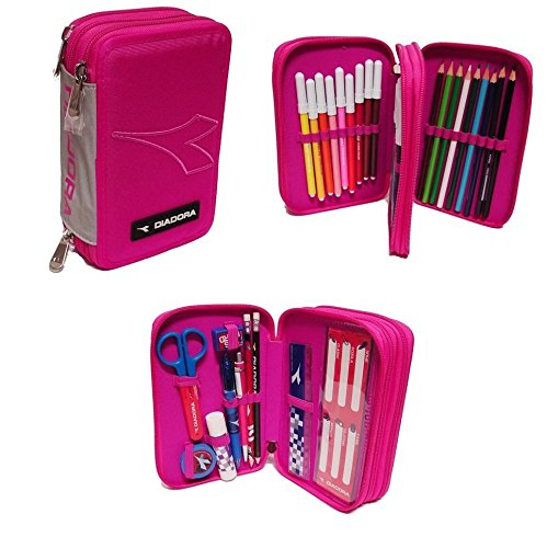 diadora-organised-pencil-case-3-zips-fuchsia