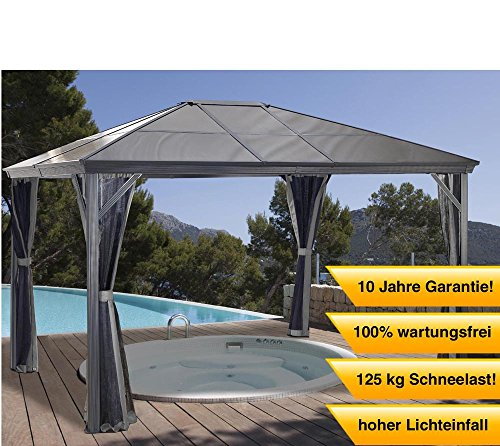 aluminium pavillon berdachung gazebo verona 10x10 mit. Black Bedroom Furniture Sets. Home Design Ideas