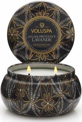 Voluspa 11oz Candle 2 Wick Tin - Atelier Provence Lavande