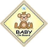 Baby On Board Car Sign Baby On Board Sign Brown Monkey Baby on Board Grandchild On Board Baby Sign Unisex Baby On Board Decal Bumper Sticker Baby Car Signs