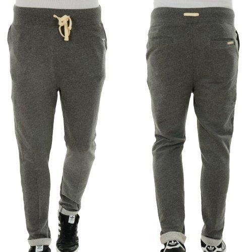 Japan Rags Pantalone Pile Uomo Pantaloni Della Tuta Grigio Scuro - grigio scuro, XXL