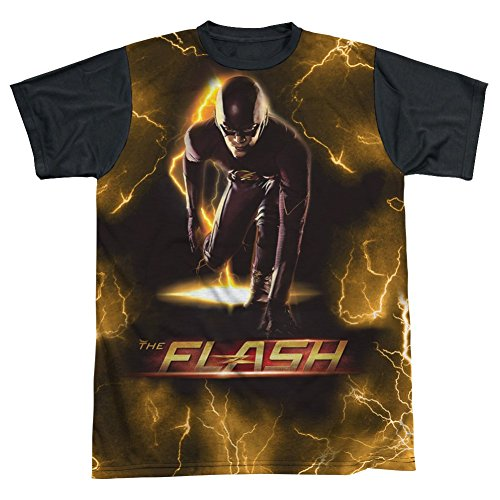 Sublimation Black Back: Bolt The Flash T-Shirt