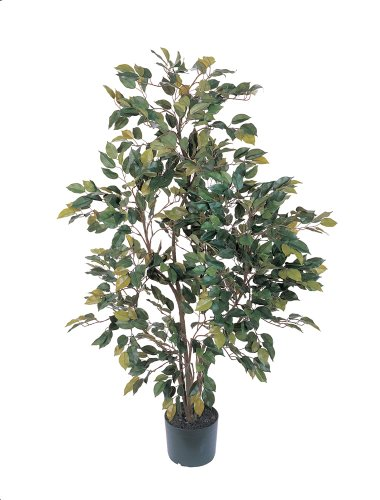 Nearly Natural 5074 Ficus Silk Tree, 4-Feet, Green (Nearly Natural 4 Feet Ficus compare prices)