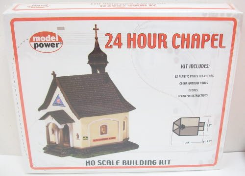 Model Power HO Scale Building Kit - 24 Hour Chapel