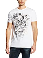 Marvel Camiseta Manga Corta Band Of Heros (Blanco)