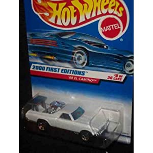 2000 First Editions 8 1968 El Camino With SS On Tailgate 2000-68 Collectible Collector Car Mattel Hot Wheels 1:64 Scale