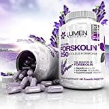 """Forskolin 250mg 20% Standardized - Get the Dr. Oz """"Insta Belly Melt"""" - FREE BONUS Weight Loss eBook ($35 Value) - 100% Natural, Clinically Proven Dietary Supplement to Rapidly Burn Visceral Fat - Pure Coleus Forskohlii Root Extract Melts Fat & Supercharges Metabolism Leaving Only Lean Muscle Behind - Order Risk Free With Lumen Naturals MONEY BACK BELLY MELT GUARANTEE! - Limited Time Pricing - Buy 2 & Get FREE Shipping - Order Today!"""