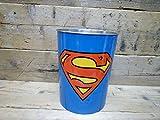 スーパーマン ブリキ製 ダストボックス ゴミ箱 ごみ箱 インテリア マーベル アメキャラ アメリカンコミック アメコミ