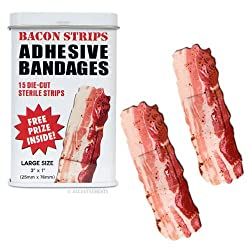 Funny product BACON shaped themed Adhesive Bandages