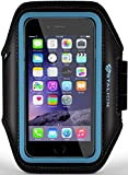 iPod Touch Armband: Stalion® Sports Running & Exercise Gym Sportband (Cyan Blue) Water Resistant + Sweat Proof (for Apple iPod Touch 5th & 6th Gen)