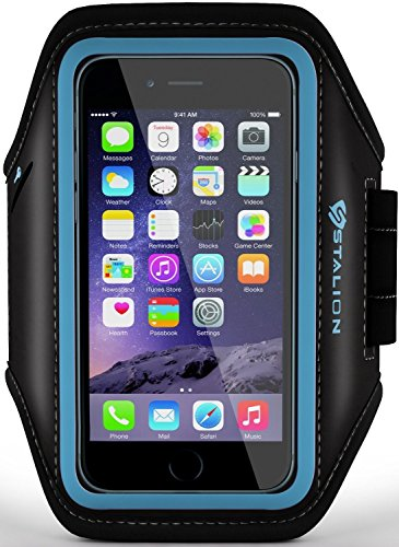 iPod Touch Armband: Stalion® Sports Running & Exercise Gym Sportband (Cyan Blue) Water Resistant + Sweat Proof (for Apple iPod Touch 5th & 6th Gen) (Ipod Model A1421 compare prices)