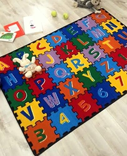 HR 3FTX5FT ABC PUZZLE KIDS EDUCATIONAL NON-SLPIP RUG (39''X58'') PLEASE CHECK ALL THE PICTURES